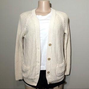 Gap White Creme Knit Cardigan - A9